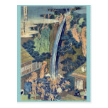 Cascada de Roben en Oyama por Katsushika, Hokusai Postal
