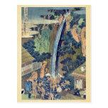 Cascada de Roben en Oyama por Katsushika, Hokusai Tarjeta Postal