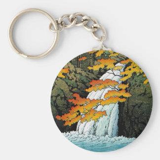 Cascada de Senju, Akame. Waterscape de Hasui Kawas Llavero Redondo Tipo Pin