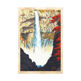 Cascada de Shiro Kasamatsu Kegon en el hanga de Ni Impresion En Lona