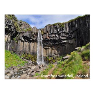 Cascada de Svartifoss, Islandia Postales
