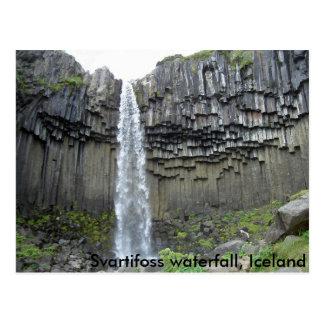 Cascada de Svartifoss, Islandia Tarjeta Postal