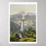 Cascada de Vinagre del río, cerca del volcán de Pu Poster