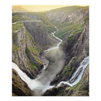 Cascada de Voringsfossen en Noruega Fotografías