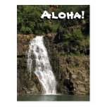Cascada de Waimea Audubon de la postal de Hawaii