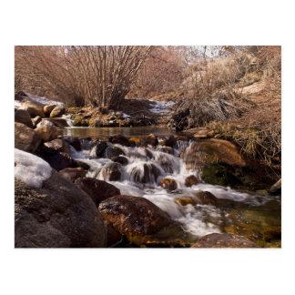 Cascada de Whitney Potrtal, tarjeta de California Tarjeta Postal