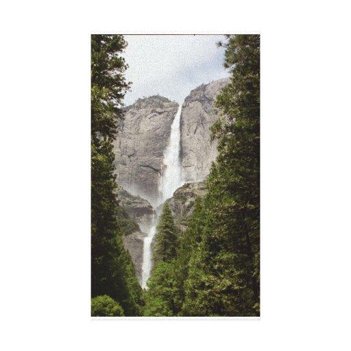 Cascada de Yosemite Lona Estirada Galerias