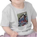 Cascada de Yoshitsune Umarai por Katsushika, Hokus Camiseta