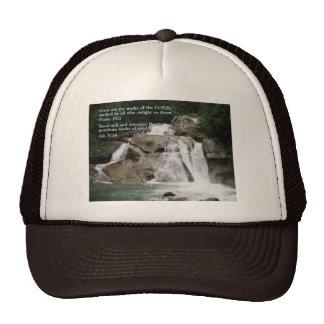 Cascada del 111:2 del salmo gorras