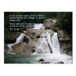 Cascada del 111:2 del salmo postales