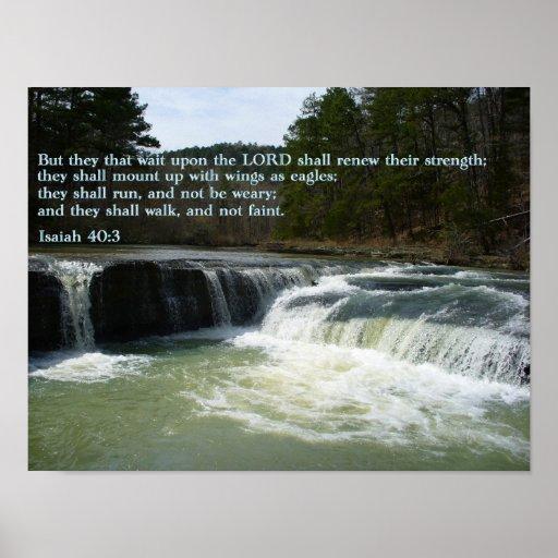 Cascada del 40:3 de Isaías Póster