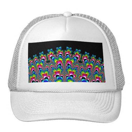 Cascada del arco iris - arte del fractal gorra