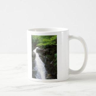 Cascada del arroyo del castor, soporte Moosilauke Taza Básica Blanca