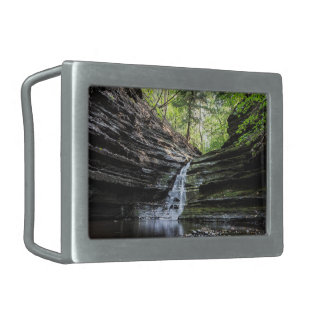 Cascada del barranco hebilla de cinturon rectangular