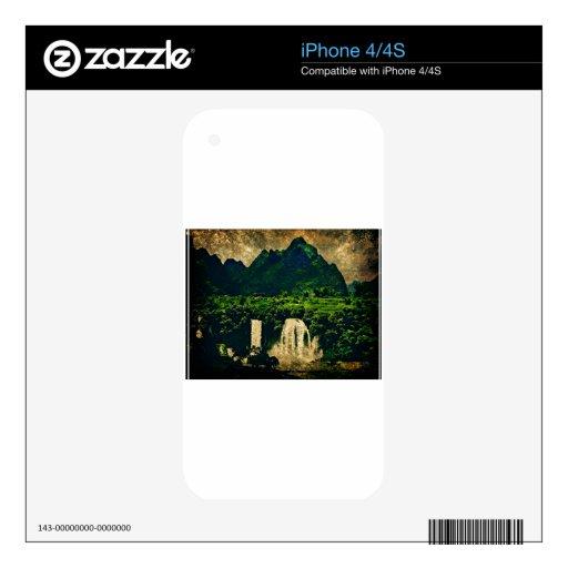 cascada del bosque esmeralda skin para el iPhone 4S