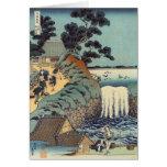 Cascada del gaok de Aoi, Katsushika Hokusai Felicitación