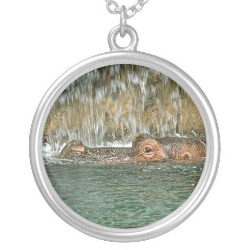 Cascada del hipopótamo colgante redondo