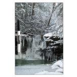 Cascada del invierno Nevado Pizarra Blanca