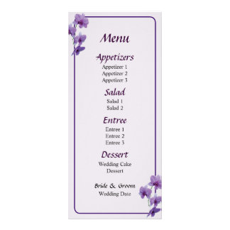 Cascada del menú púrpura de las orquídeas… tarjeta publicitaria personalizada