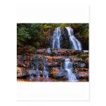 Cascada del otoño tarjetas postales