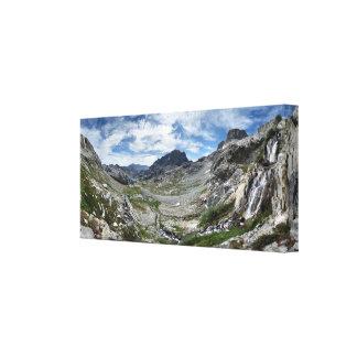 Cascada del paso de Ritter - desierto de Ansel Impresión En Lienzo