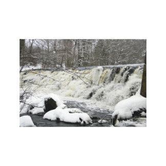 Cascada del río de Taunton Impresión En Lona