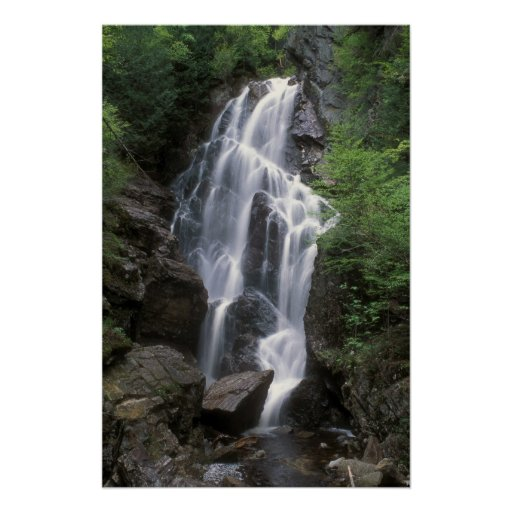 Cascada del Salto Ángel Maine Póster