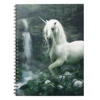 Cascada del unicornio spiral notebooks
