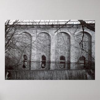 Cascada del viaducto del cantón poster