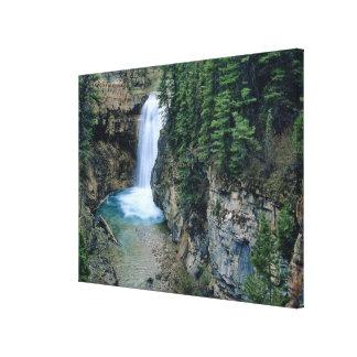 Cascada en cala de las caídas en Lewis y Clark Impresión En Lona