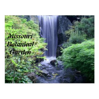Cascada en el jardín botánico de Missouri Tarjetas Postales