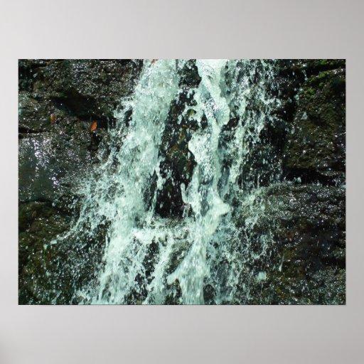 Cascada en el parque de estado del molino de Watso Posters