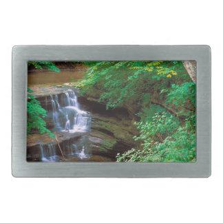 Cascada en el parque de estado hambriento de la ro hebilla cinturón rectangular