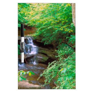 Cascada en el parque de estado hambriento de la ro tablero blanco