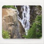 Cascada en el parque nacional del Monte Rainier Alfombrillas De Raton