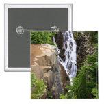 Cascada en el parque nacional del Monte Rainier Pin Cuadrado