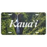 Cascada en la isla de Kauai, Hawaii Placa De Matrícula