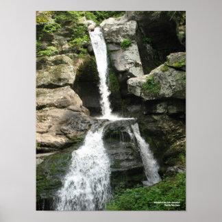 Cascada en las caídas de Kent, Connecticut - impre Póster