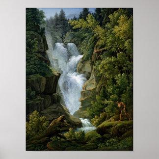Cascada en las montañas de Berna, 1796 Póster