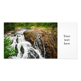 Cascada en Ontario septentrional, Canadá Tarjetas Con Fotos Personalizadas