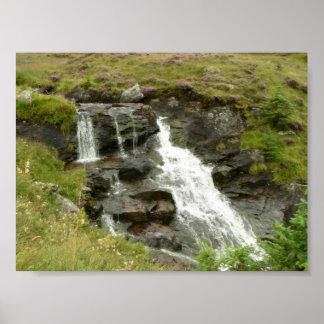 Cascada en pequeño Waterstream Póster