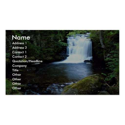 Cascada en Watersmeet, Devon del norte, Inglaterra Tarjetas De Visita