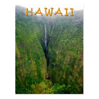Cascada espectacular en Molokai, Hawaii Tarjeta Postal