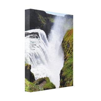 cascada gigantesca impresiones en lona estiradas