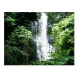 Cascada hawaiana tarjetas postales