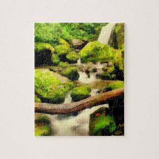Cascada hermosa puzzle con fotos