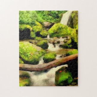 Cascada hermosa rompecabeza con fotos