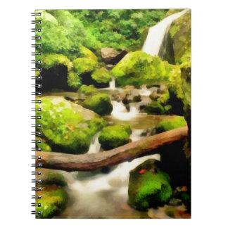 Cascada hermosa spiral notebook