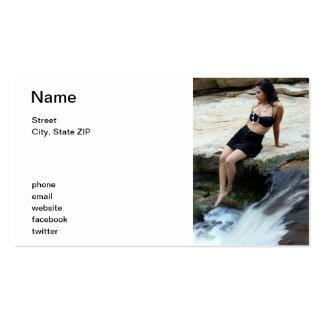 Cascada hispánica de la mujer plantillas de tarjeta de negocio