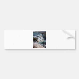 Cascada Islandia de Foss de la gaviota Pegatina Para Auto